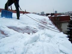 Odstranění padajícího sněhu Praha